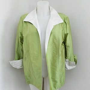 Nwot 100% Silk Bloomingdales Jacket Blazer